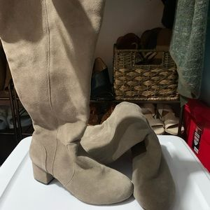 ** Wide Calf ** Suede Knee Length Boot